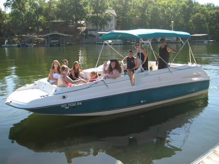 deck boat rentals at lake of the ozarks