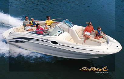 SeaRay boat rentals at Lake of the Ozarks